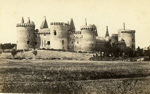France Brittany Sarzeau Chateau de Suscinio Castle Old CDV Photo Carlier 1870