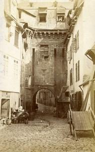 France Brittany Rennes Porte Mordelaise Gate Old CDV Photo Tresorier 1870