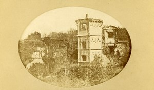 Brittany Taden château de La Garaye Castle Ruins Old CDV Photo Richard 1870
