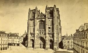 France Nantes Cathedral Old CDV Photo Furst 1870