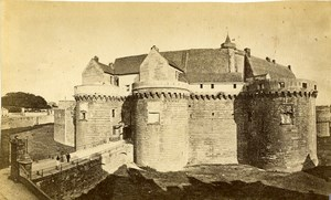 France Nantes castle chateau Old CDV Photo Furst 1870