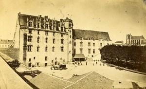France Nantes interior of Castle Courtyard Old CDV Photo Furst 1870