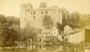 France Château de Clisson Castle Sèvre Nantaise Old CDV Photo Tresorier 1870