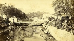 France Menton Carei River valley Old CDV Photo Degand 1870