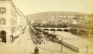France Nice Quai St Jean Baptiste Embankment Old CDV Photo Degand 1870
