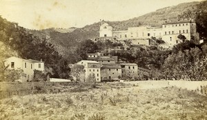France Nice Chateau de Saint André dela Roche castle Old CDV Photo Degand 1870