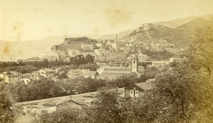 Italie Vintimille panorama Riviera Italienne ancienne Photo CDV Degand 1870