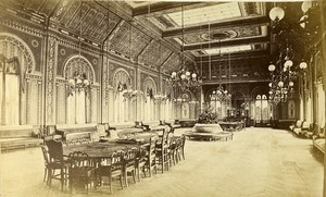 Monaco Casino game room Interior Old CDV Photo Degand 1870