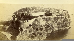Monaco panorama general view Old CDV Photo Degand 1870