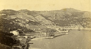 France Villefranche Bay panorama Seaside Old CDV Photo Davanne & Aleo 1870
