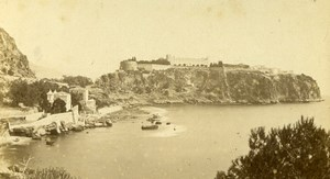 Monaco Castle panorama Old CDV Photo Davanne & Aleo 1870