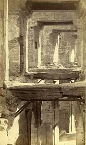 France Arles interieur des Arènes Amphithéâtre Romain ancienne Photo CDV 1870