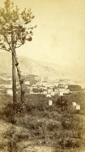 France Menton panorama Old CDV Photo Degand 1870