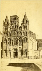 France Angouleme Cathedral Saint-Pierre Old CDV Photo Godard 1870