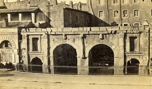 France Nimes Roman City Gate Porte d'Auguste Old CDV Photo 1870