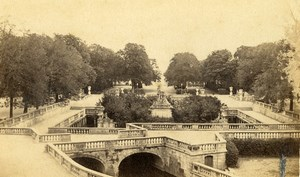 France Nimes gardens of the Fountain Jardins de la Fontaine Old CDV Photo 1870