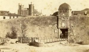 France Narbonne Perpignan City Gate Old CDV Photo Verdier 1870