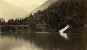 Pyrénées Lac des Quinconces & Port de Venasque Luchon Old CDV Photo Soule 1870
