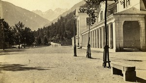 France Thermal Baths & Port of Venasque Luchon Old CDV Photo Soule 1870
