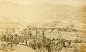 France Pyrénées Bagneres de Bigorre Panorama Montagne ancienne Photo CDV 1872