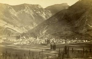 France Pyrénées Bourg d'Asté pres de Bagneres de Bigorre ancienne Photo CDV Sajous 1872