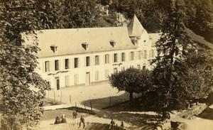 France Pyrénées Bagnere de Bigorre Bains de Salut Thermes ancienne Photo CDV Sajous 1872