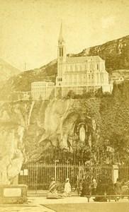 France Pyrenees Lourdes Chapelle Notre Dame Chapel Old CDV Photo Viron 1872
