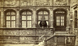 France Rouen Hotel Bourgtheroulde Old Neurdein CDV Photo 1870's