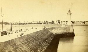 France Dieppe Jetty La Jetee Old CDV Photo Charles 1870