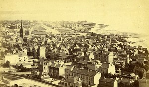 France le Havre Vue Generale panorama ancienne Photo CDV Neurdein 1870