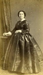 France Paris Wife of Charles Joseph Lambert Bey Old CDV Photo Bisson 1860