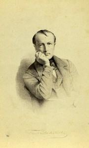 France Paris Alphonse de Lamartine Writer Poet Old CDV Photo Goupil 1870