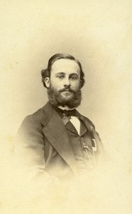 France Paris US Doctor Edmond Souchon Autograph Old CDV Photo Petit 1860's