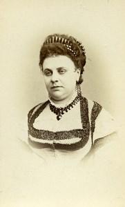 France Paris Opera Mezzo Soprano Pauline Lauters ancienne Photo CDV Reutlinger 1870