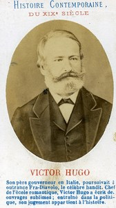 France Paris Writer Victor Hugo Old CDV Photo 1870