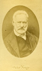 France Paris French Writer Victor Hugo Old CDV Photo Teruel 1870