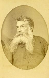 France Paris French Painter Sculptor Ernest Meissonier Old CDV Photo Braun 1870