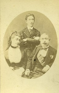 French Imperial Family Napoleon III Eugenie Eugene Second Empire CDV Photo 1870