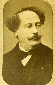 France Paris French writer Alexandre Dumas Fils Old CDV Photo Teruel 1870