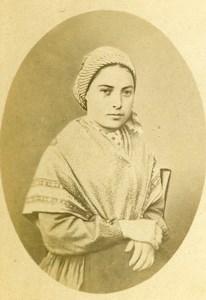 France Toulouse Bernadette Soubirous Old CDV Photo Provost 1870