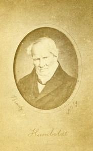 France Explorer Alexander Von Humbolt Old Brady CDV Photo Benoit 1870