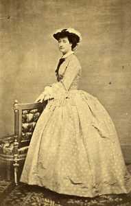 France Paris Empress Eugènie de Montijo Old CDV Photo Thiébault 1870