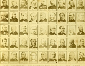 France Paris members of government 1871 to 1874 Old CDV Photo Teruel