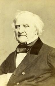 United Kingdom Financier Philantropist Georges Peabody Old CDV Photo Mayall 1865