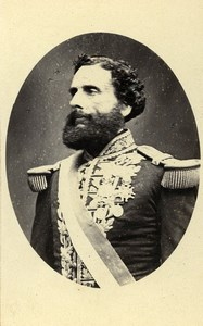 Peru Lima President Juan Antonio Pezet Old CDV Photo Courret Hermanos 1860's