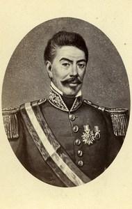 Peru Lima President Miguel de San Roman Old CDV Photo Courret Hermanos 1860's