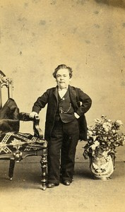 USA P.T. Barnum Circus General Tom Thumb Dwarf Charles Fredericks CDV Photo 1870