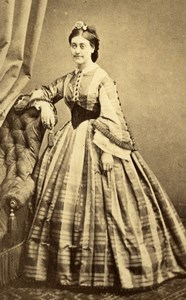 Marie Merel Tunis Second Empire French Presence Old CDV Photo Delintraz 1860