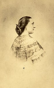 Sarah Chapelié Tunis Second Empire French Presence Old CDV Photo Delintraz 1860