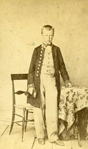 Eugene Vitrovic Tunis Second Empire French Presence Old CDV Photo Delintraz 1860